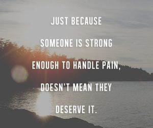 quote, pain, and strong image