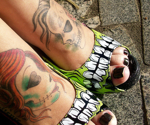 tattoo, shoes, and iron fist image