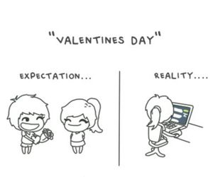 reality, valentines day, and expectations image