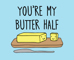 butter, funny, and half image