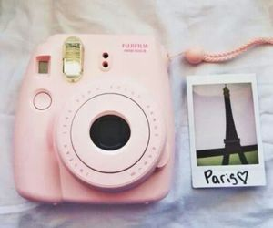 paris, pink, and photo image