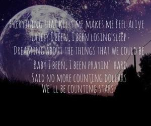 Lyrics, moon, and one republic image