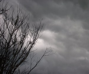 black, clouds, and fear image