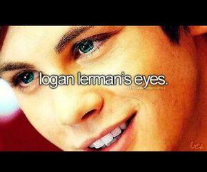 eyes, logan lerman, and beautiful image