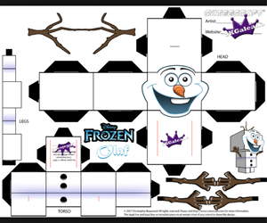 diy, frozen, and olaf image