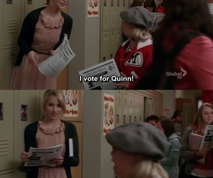 becky, glee, and Quinn image