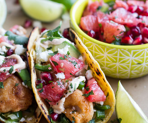 fish, mexican, and taco image