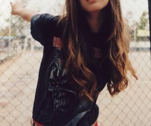 girl, iron maiden, and grunge image