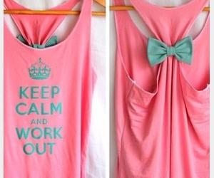 pink, keep calm, and bow image