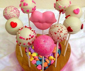cake pops, food, and heart image