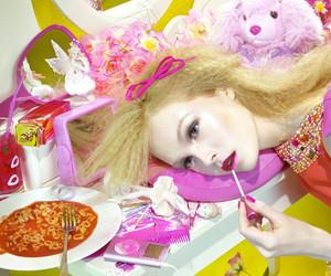 girl, hot pink, and Miles Aldridge image