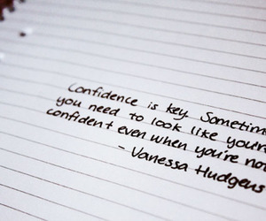 quote, confidence, and vanessa hudgens image