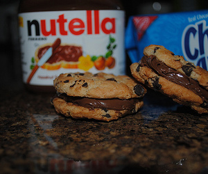 nutella, Cookies, and food image