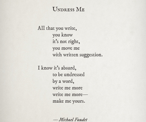 love notes, undress me, and poem image