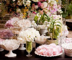 decor, flowers, and light image