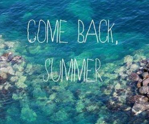 summer, sea, and come back image