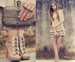 brown, shoes, and clutch image