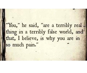 him, pain, and quotes image