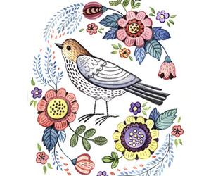 art, art print, and bird image