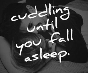 love, cuddling, and quote image