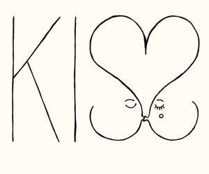 kiss, love, and heart image