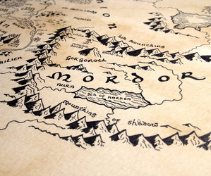 lord of the rings, map, and the hobbit image