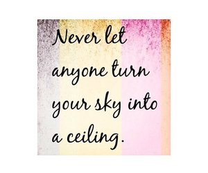 positive, quotes, and sky image