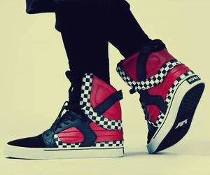 black, dope, and trainers image