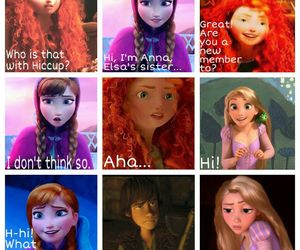 anna, rapunzel, and hiccup image