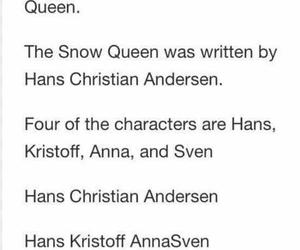 frozen, hans christian andersen, and snow queen image