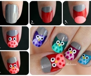 nails, owl, and tutorial image
