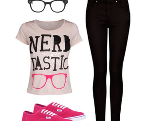 clothes, nerd, and outfit image