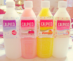 drink, calpico, and food image
