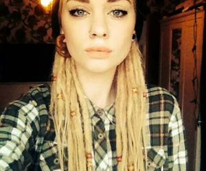 dreads, girl, and blonde image