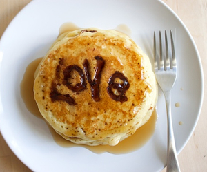 pancakes and love image
