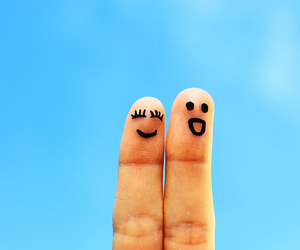 fingers and smile image