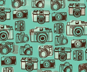 cameras, mint green, and pattern camera image