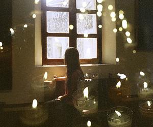 candle and girl image