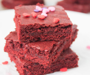brownies, chocolate, and red velvet image