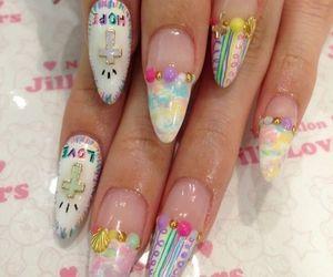bow, kawaii, and 3d nails image