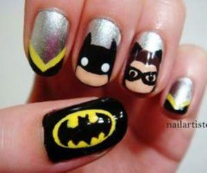 batman, black, and nails image