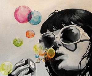bubbles, art, and illustration image