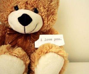 love, bear, and I Love You image