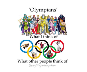 gods, olympians, and percy jackson image