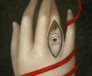 eye, hand, and ring image