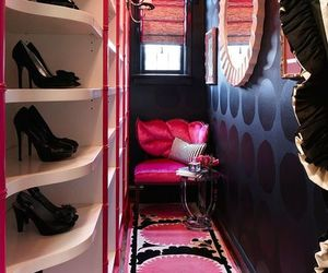 pink, closet, and shoes image