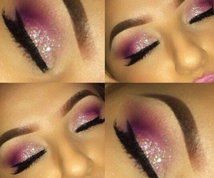 glitters, make-up, and makeup look image