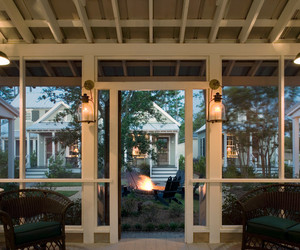 interior home, screened porch, and dining furniture image