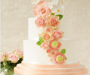 cake, inspiration, and flowers image