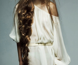 hair, model, and braid image